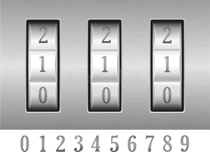组合例证锁定向量 库存例证
