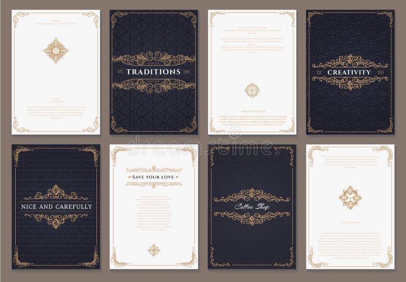 组合图案创造性的卡片模板 库存例证