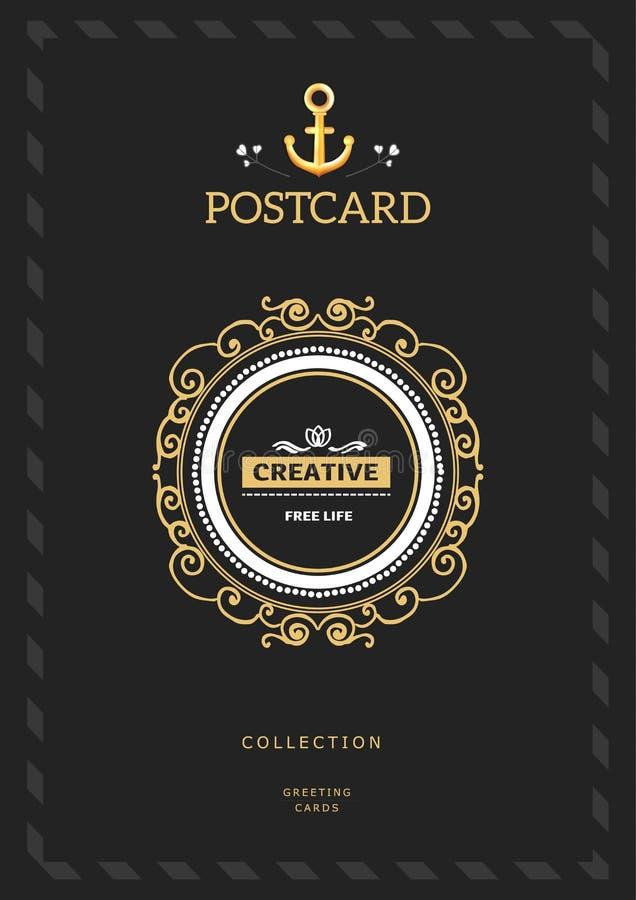 组合图案创造性的卡片 库存例证