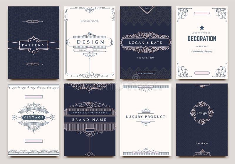 组合图案创造性的卡片 向量例证