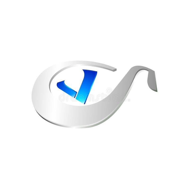 组合图案设计元素,优美的模板 书法典雅的商标设计 V商标线艺术组合图案 在黑暗的信件v 向量例证