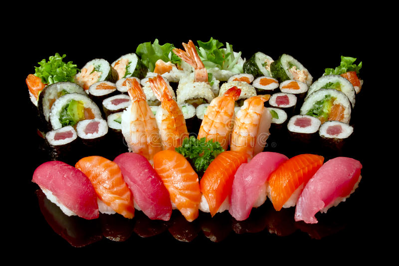 组合寿司 免版税库存照片