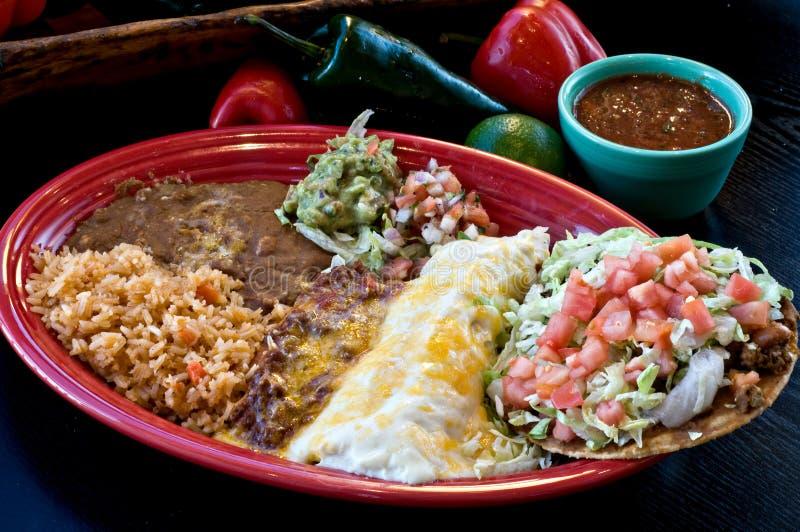 组合正餐墨西哥 免版税库存图片