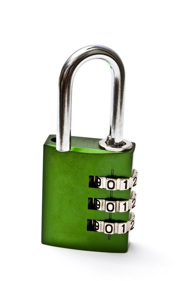 组合绿色锁定 免版税库存照片