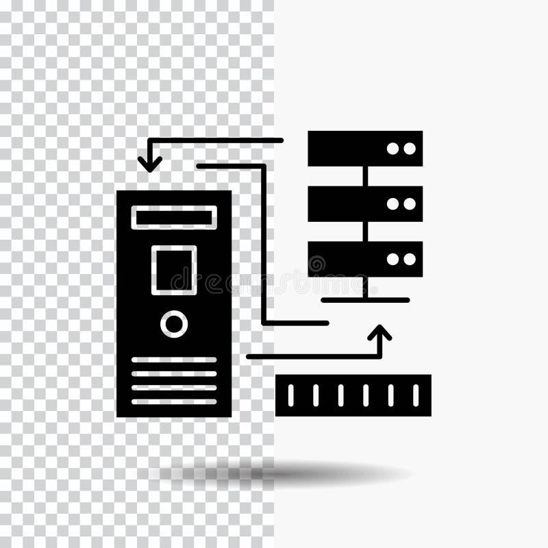 组合,数据,数据库,电子,信息在透明背景的纵的沟纹象 ?? 向量例证
