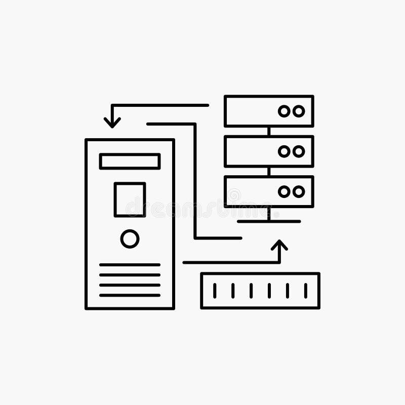 组合,数据,数据库,电子,信息线象 r 库存例证