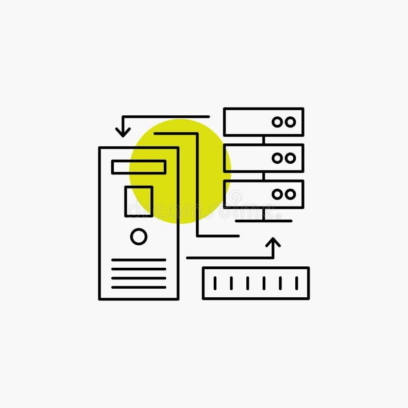 组合,数据,数据库,电子,信息线象 向量例证