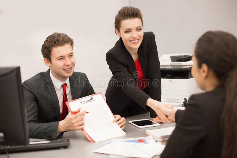 组商人在会议 免版税库存图片