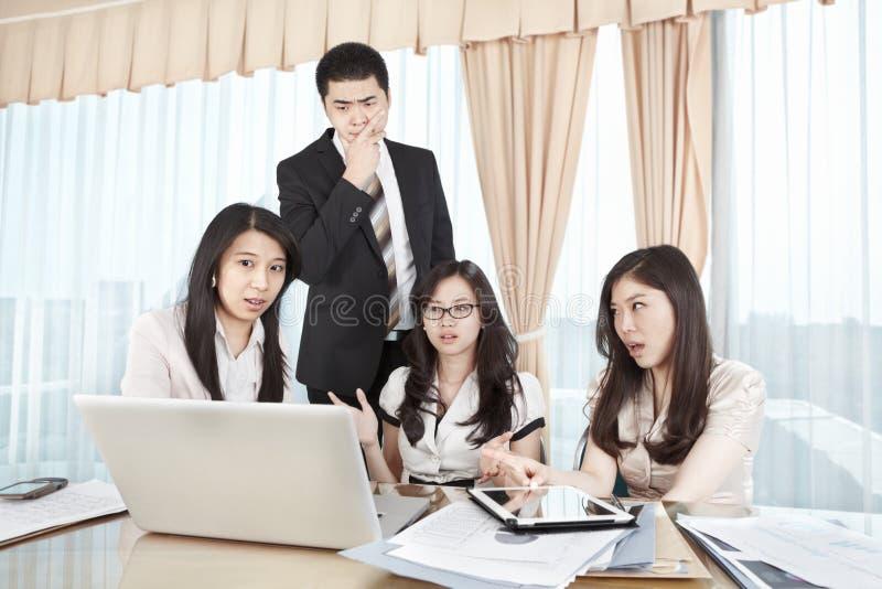 组商人论述 免版税图库摄影