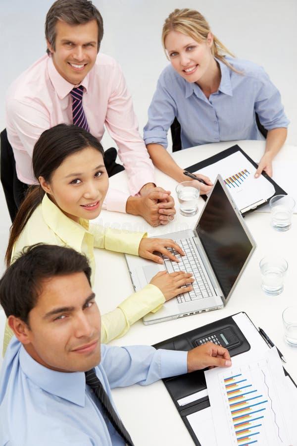 组在业务会议 免版税库存图片