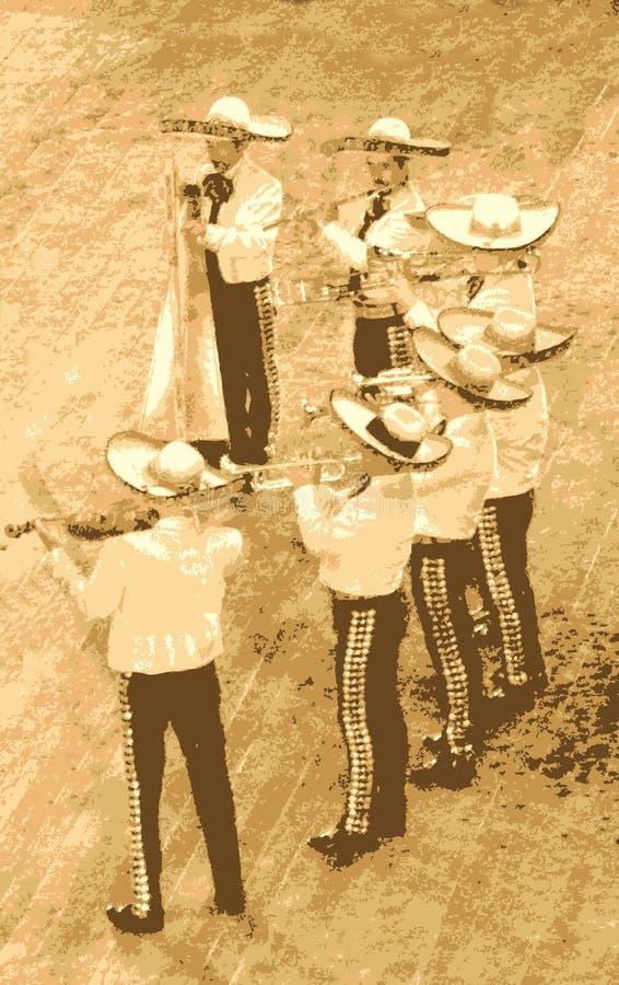 组墨西哥流浪乐队 皇族释放例证