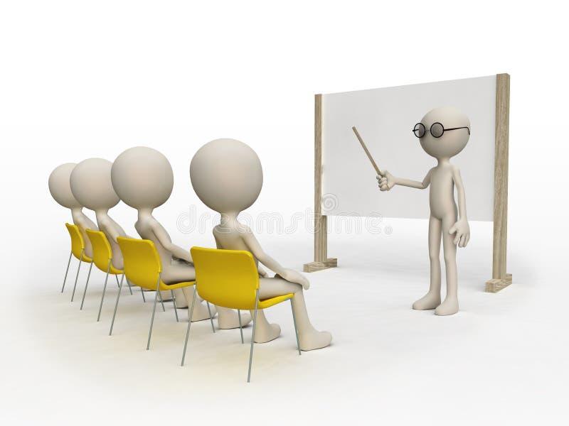 组实习教师 向量例证
