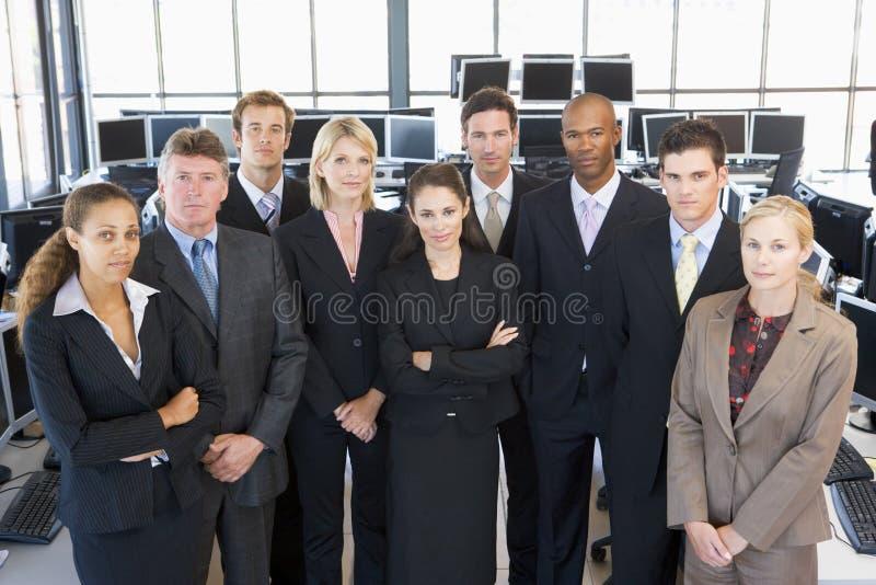 组射击了股票交易商 图库摄影