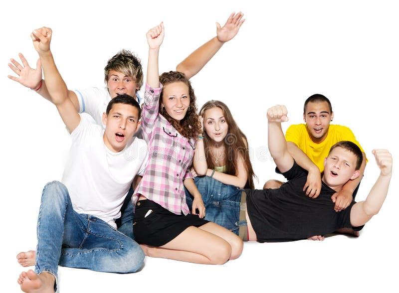 组愉快的人年轻人 库存图片