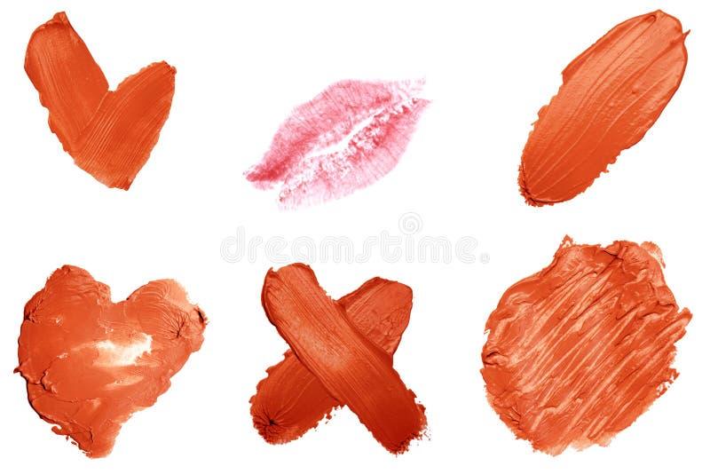 组成产品装饰宏指令 题字和标志 唇膏,皮肤产品 被隔绝的关闭 库存图片