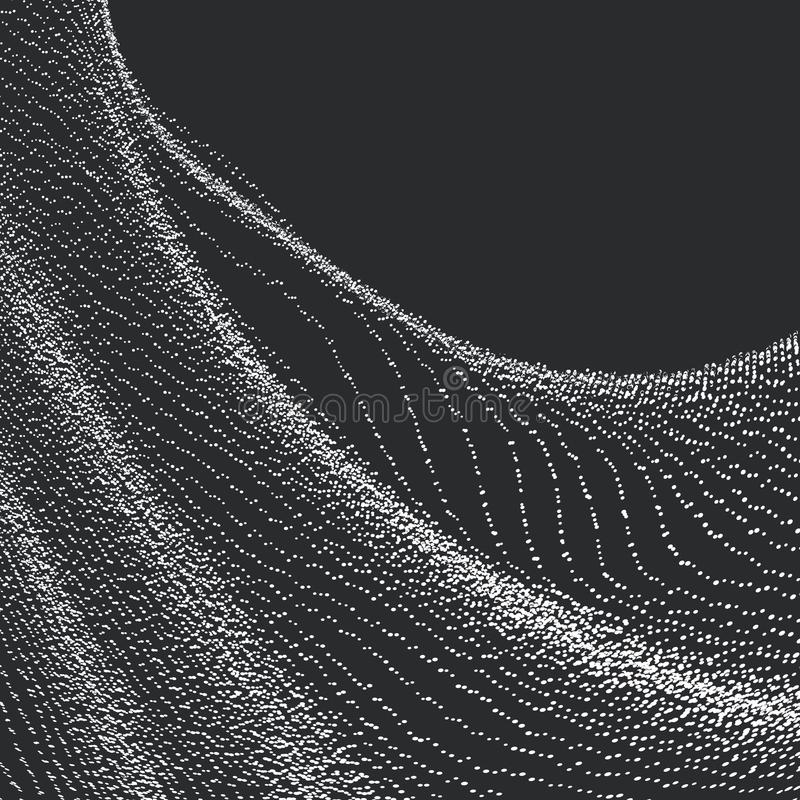 组成由微粒打旋的抽象图表 向量例证