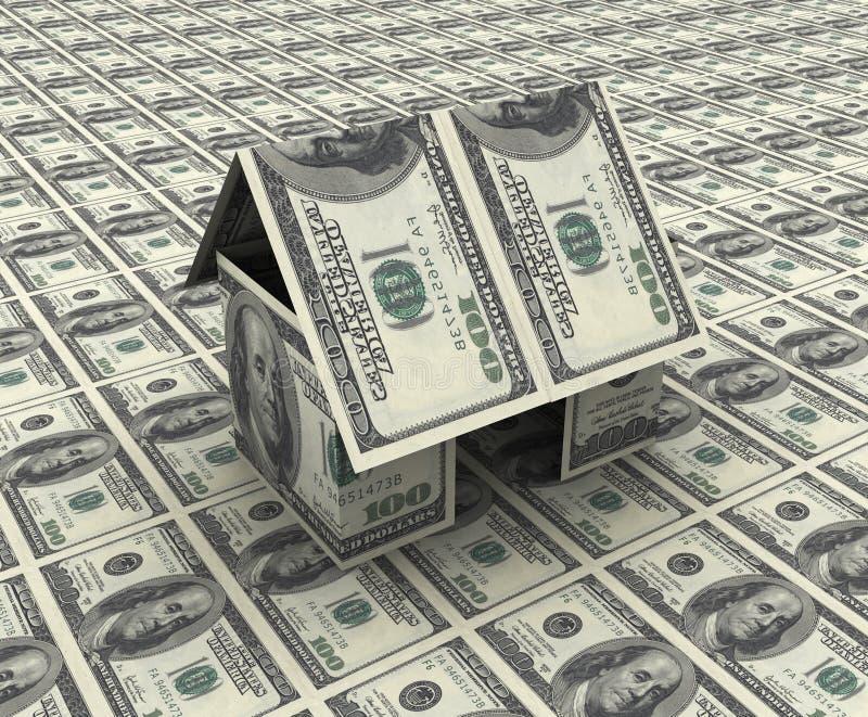 组成的美元房子 向量例证