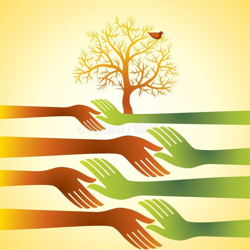 组有结构树的现有量,企业协议概念 向量例证