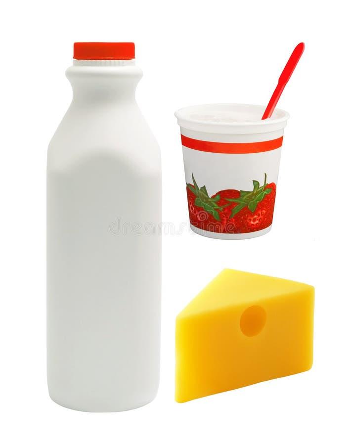 组牛奶 免版税库存照片