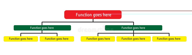 组织图表总公司的层次结构 向量例证