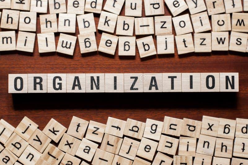 组织在立方体的词概念 库存图片