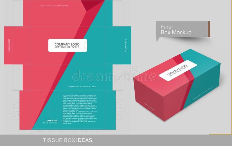 组织箱子模板概念系列 向量例证