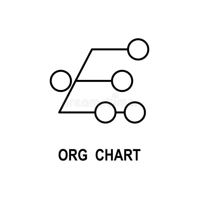 组织系统图象 企业流动概念和网应用程序的结构象的元素 稀薄的线组织系统图象 向量例证