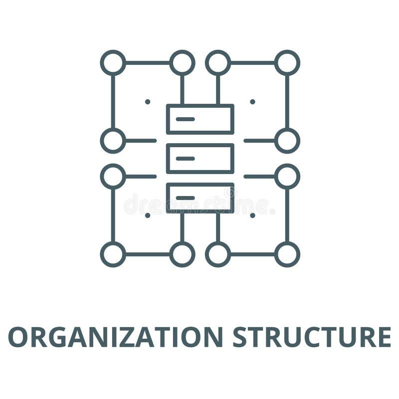组织结构传染媒介线象,线性概念,概述标志,标志 库存例证