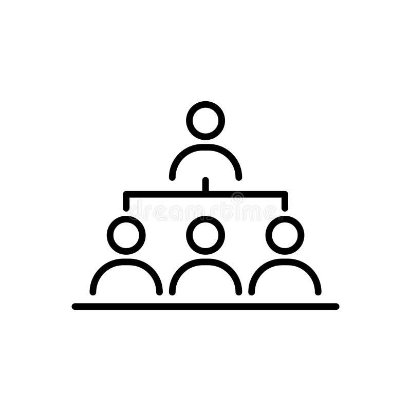 组织结构商人象简单的线平的例证 皇族释放例证