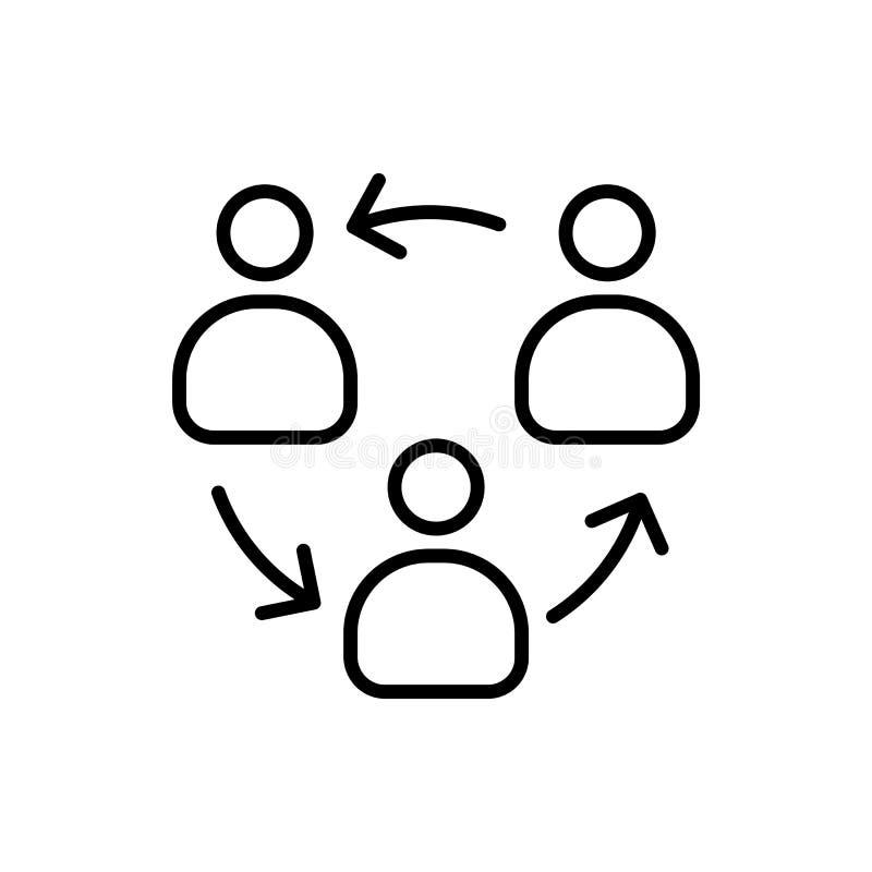 组织结构商人象简单的线平的例证 库存例证