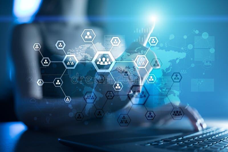 组织结构图,人` s通讯网络 HR,人力资源 库存例证
