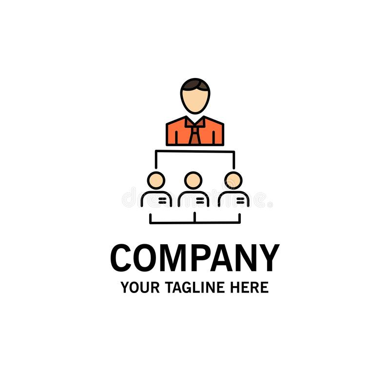 组织,事务,人,领导,管理企业商标模板 o 皇族释放例证