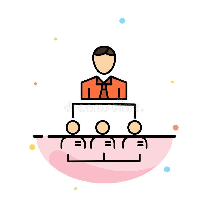 组织,事务,人,领导,管理摘要平的颜色象模板 库存例证