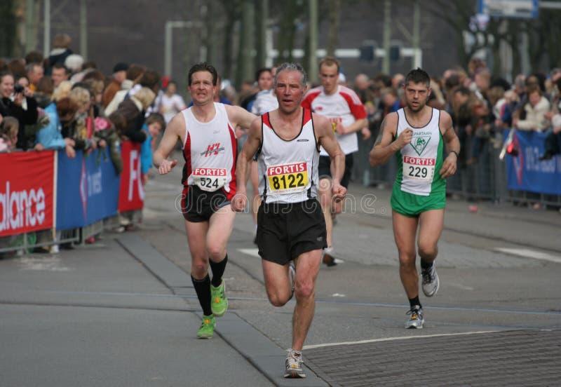 组马拉松运动员 免版税库存图片
