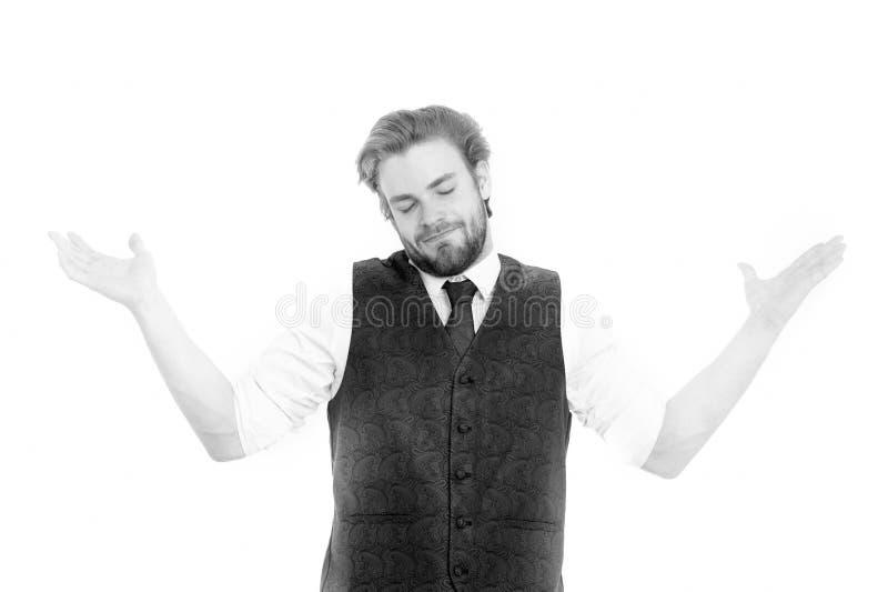 绅士或人或微笑绅士背心和领带的 库存图片