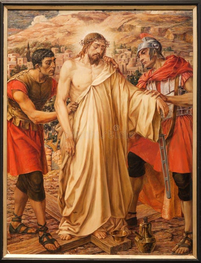 绅士-在十字架上钉死的耶稣 图库摄影