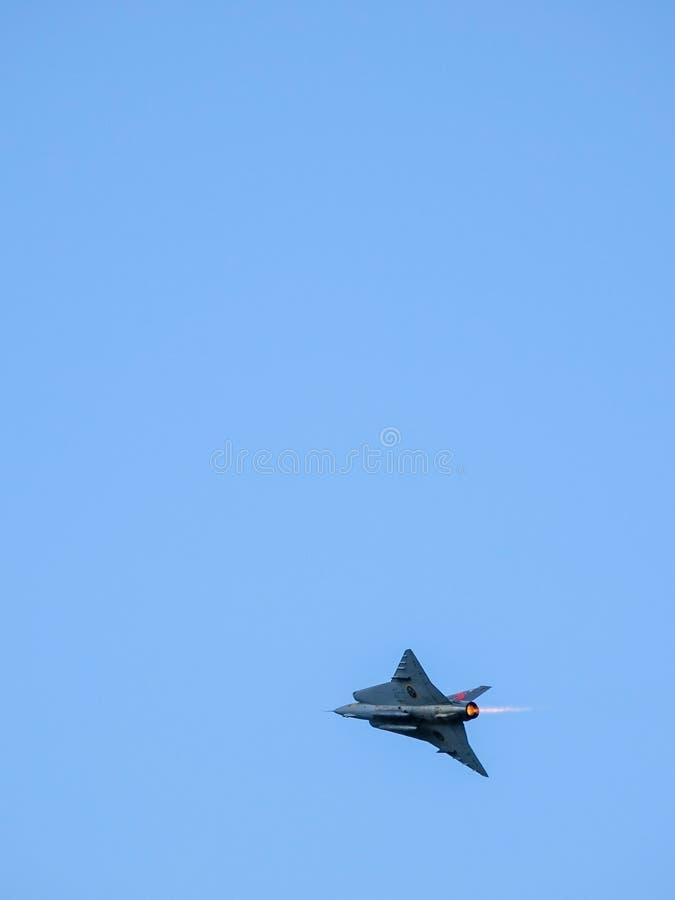 绅宝35 Draken,瑞典战机 免版税库存图片