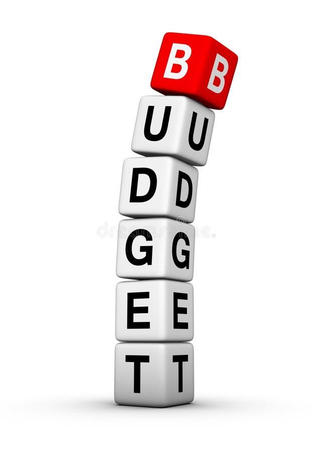 细分预算值 向量例证