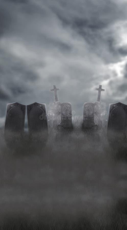 细微的墓地 向量例证