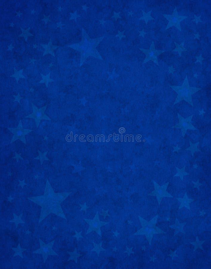细微的蓝星 向量例证