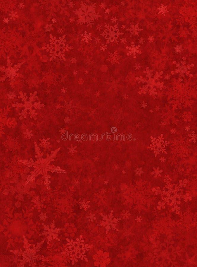 细微背景红色的雪 向量例证