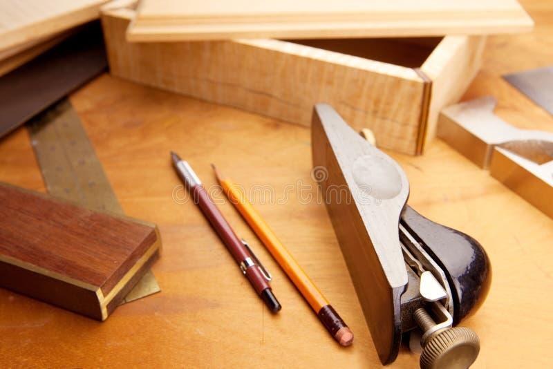 细致的木材加工 免版税库存图片