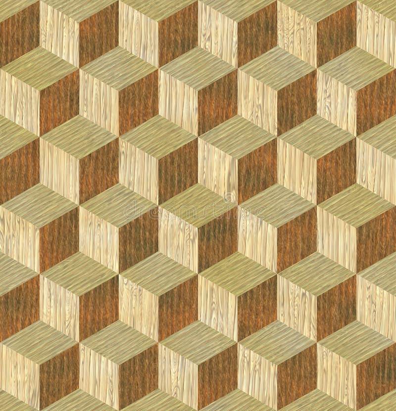 细致的模式无缝的纹理木头 库存例证