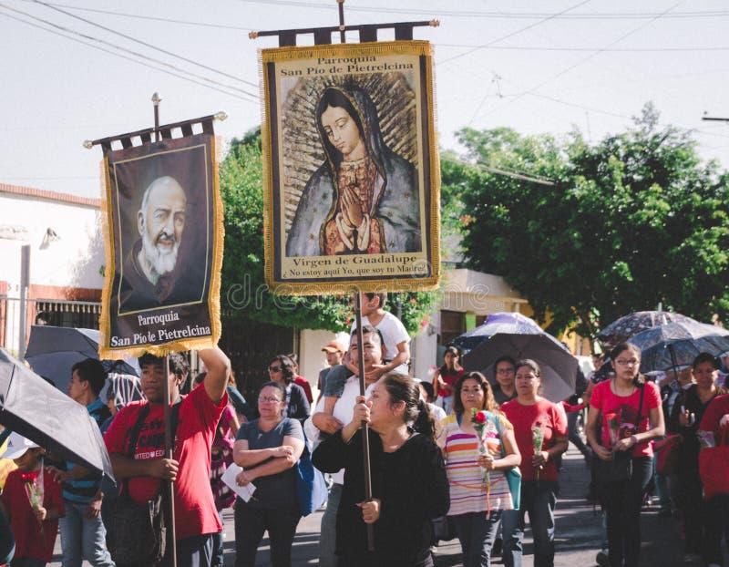细节从旅行到瓜达卢佩河大教堂在蒙特雷 免版税库存照片