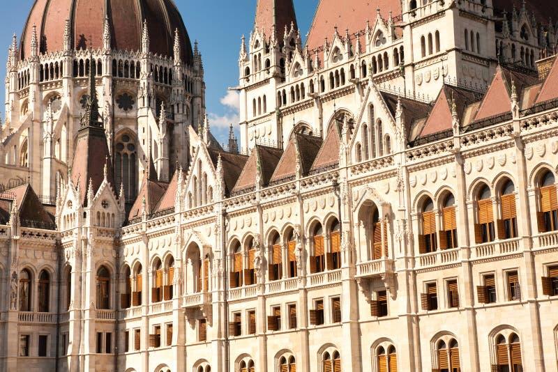 细节议会,布达佩斯 图库摄影
