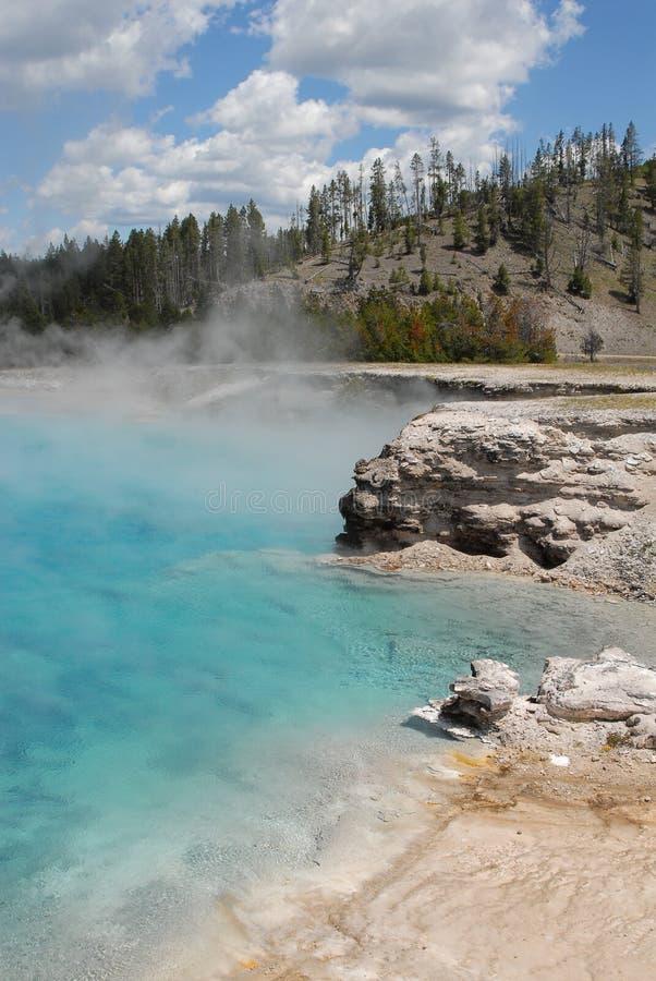 细菌形成喷泉温泉 库存图片