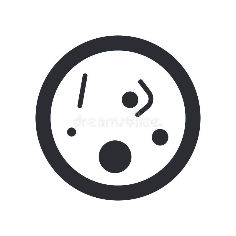 细菌象在白色背景和标志隔绝的传染媒介标志,细菌商标概念 皇族释放例证