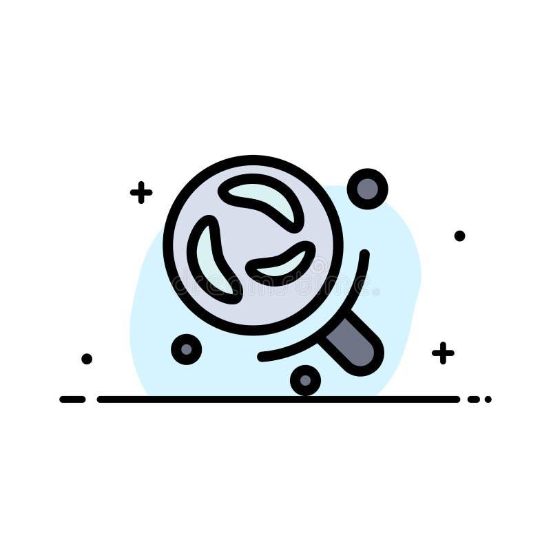 细菌,实验室,研究,科学企业平的线填装了象传染媒介横幅模板 皇族释放例证