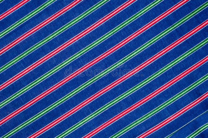 细麻花布织品纹理 镶边着色,红色青绿的白色s 库存照片