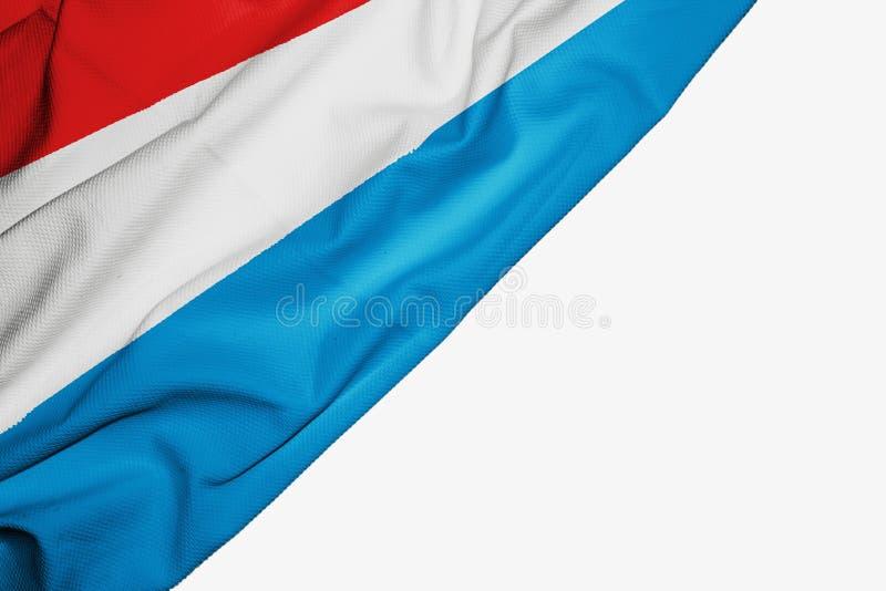 织品卢森堡旗子与copyspace的您的在白色背景的文本的 向量例证